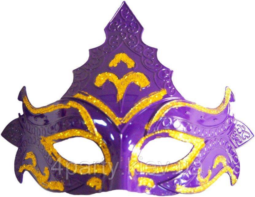 Маска венеция Корона (фиолетовая) 240216-312