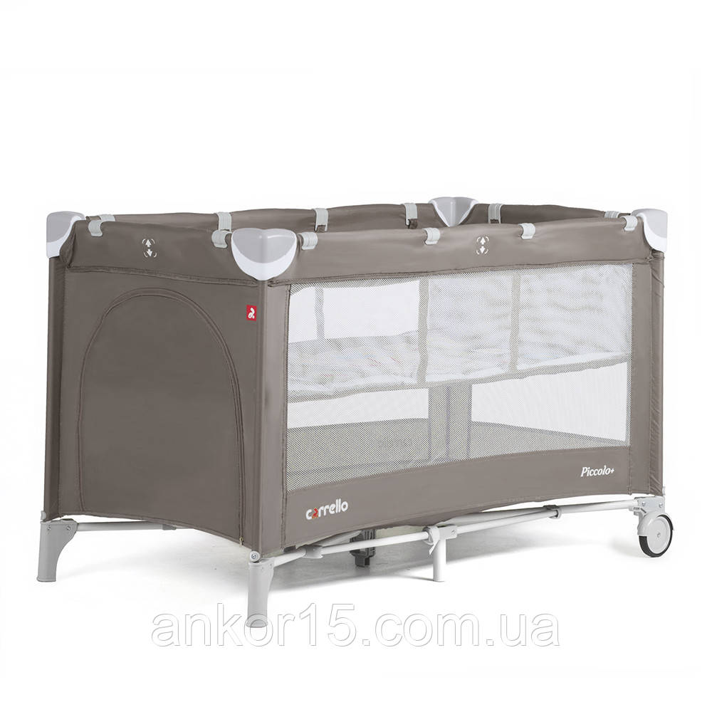 Манеж-Кровать CARRELLO Piccolo+ CRL-9201 Коричневый