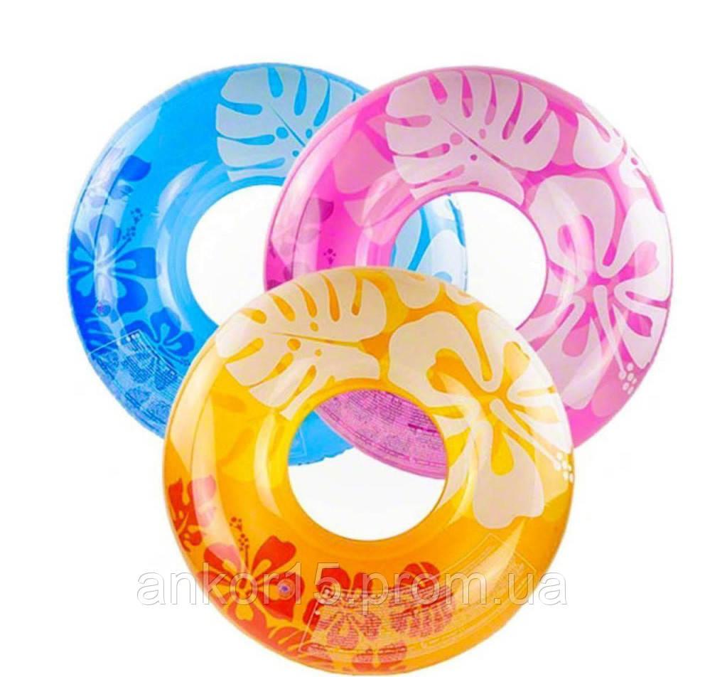 Надувной круг Intex 59251 Цветы, 91 см, 3 цвета