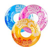Надувной круг Intex 59251 Цветы, 91 см, 3 цвета, фото 1
