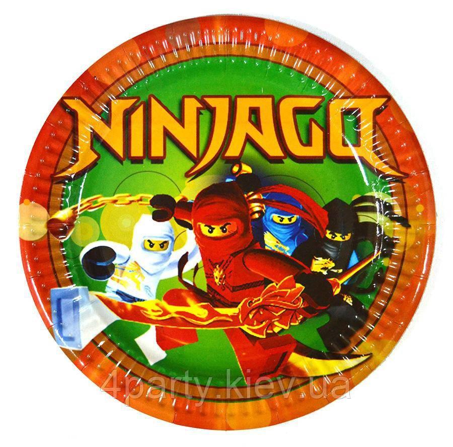 Тарелки праздничные Ниндзяго 6 шт 280916-003