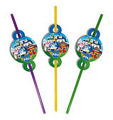 Трубочки праздничные Робокар Поли 8 150717-004