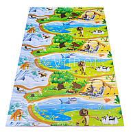 Детский большой игровой коврик с рисунком Мадагаскар 2000*1200*8 мм