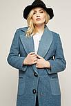 2185 пальто Берген, голубой (S), фото 4