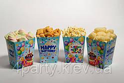 Коробочка для сладостей Торт (Голубой) 5 шт 241117-001