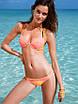 Женский яркий раздельный купальник бикини без застежек, красивая пляжная одежда, фото 2