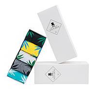 18e20cf225d85 Подарочный набор в стильной фирменной коробке носков HUF с листом конопли  (5 пар, цвет