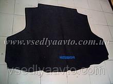 Ворсовый коврик в багажник на Mitsubishi Iancer 9 с 2003 г. седан  (Черный)