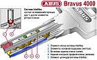 Цилиндр Abus Bravus compact 4000 80 (40x40Т) ключ-тумблер, фото 4