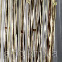 Штори нитяні в кімнату спальню передпокій, штори-нитки на вікна в спальню кухню дитячу, штора з ниток для залу холу спальні, штори, фото 5