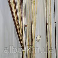 Штори нитяні в кімнату спальню передпокій, штори-нитки на вікна в спальню кухню дитячу, штора з ниток для залу холу спальні, штори, фото 3