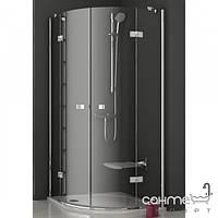 Душевые кабины, двери и шторки для ванн Ravak Полукруглый душевой уголок Ravak SmartLine SMSKK4-90 хром/графит 3S277A00Y1