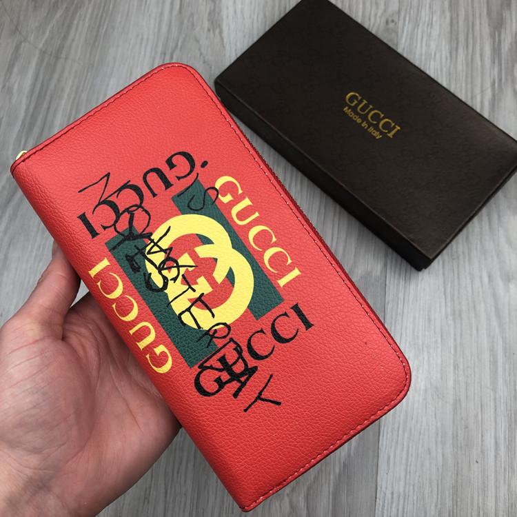 Трендовый кошелек Gucci красный Премиум Качество бумажник Модный Новинка 2019 года Гуччи реплика