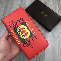 Трендовый кошелек Gucci красный Премиум Качество бумажник Модный Новинка 2019 года Гуччи реплика, фото 1