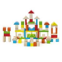 """Конструктор деревянный для детей от 2 лет - набор строительных блоков Viga Toys """"Город"""" 80 шт."""