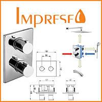 Смеситель для ванны с термостатом скрытого монтажа IMPRESE CENTRUM VRB-10400Z