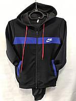 Детский спортивный костюм весна-осень Найк (36-44) черный оптом