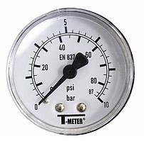 """Манометр аксиальный T-meter 1/4"""" 10 бар (Ø50/23мм)"""