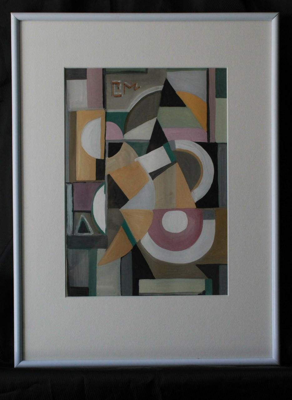 Картина абстракція, картина гуашшю і аквареллю, картина в інтер'єр