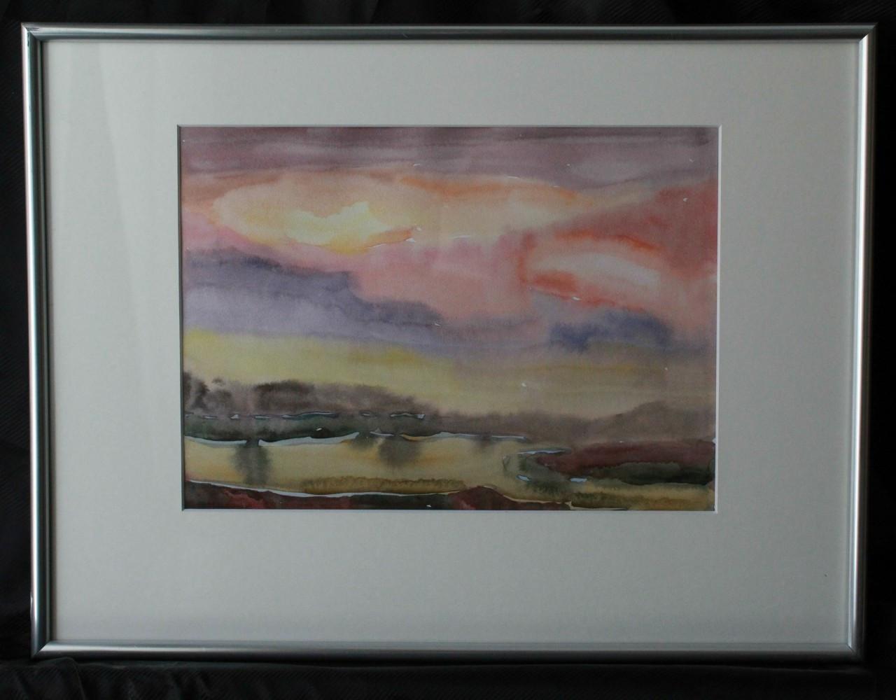 Картина аквареллю та гуашшю,пейзаж, картина в інтер'єр