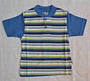 Летняя пижама для мальчика полосатая синяя р.86-92, 122-128  (OZTAS, Турция), фото 2