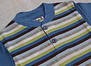 Летняя пижама для мальчика полосатая синяя р.86-92, 122-128  (OZTAS, Турция), фото 3