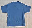 Летняя пижама для мальчика полосатая синяя р.86-92, 122-128  (OZTAS, Турция), фото 5