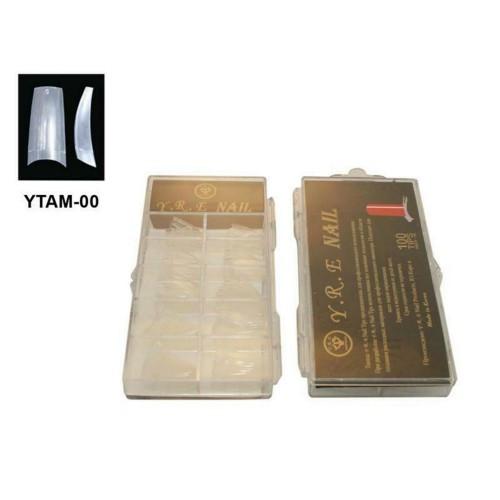 Типсы для наращивания прозрачные с узкой контактной зоной, 100шт