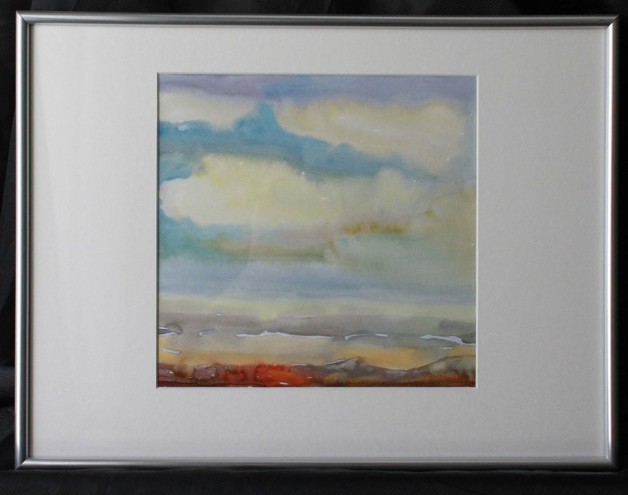 Картина пейзаж аквареллю і гуашью, картина в інтер'єр