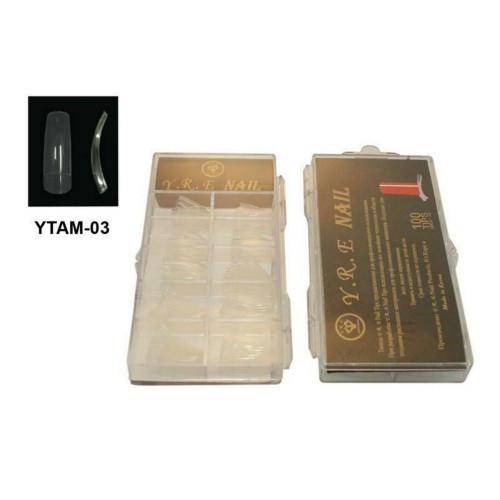 Типсы для наращивания прозрачные с широкой контактной зоной, 100шт