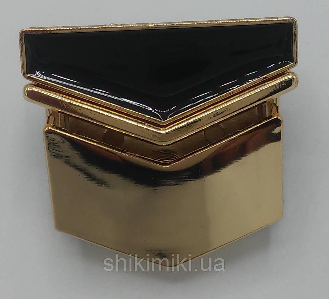 Замок для сумки ZM25-3, цвет золото