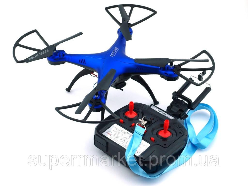 Квадрокоптер 1 million Wi-Fi 1000000 с камерой, дрон копия Syma X5C drone, синий