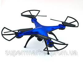 Квадрокоптер 1 million Wi-Fi 1000000 с камерой, дрон копия Syma X5C drone, синий, фото 2
