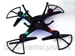 Квадрокоптер 1 million Wi-Fi 1000000 с камерой, дрон копия Syma X5C drone, синий, фото 3