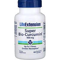 Супер био-куркумин Life Extension, 400мг, 60растительных капсул