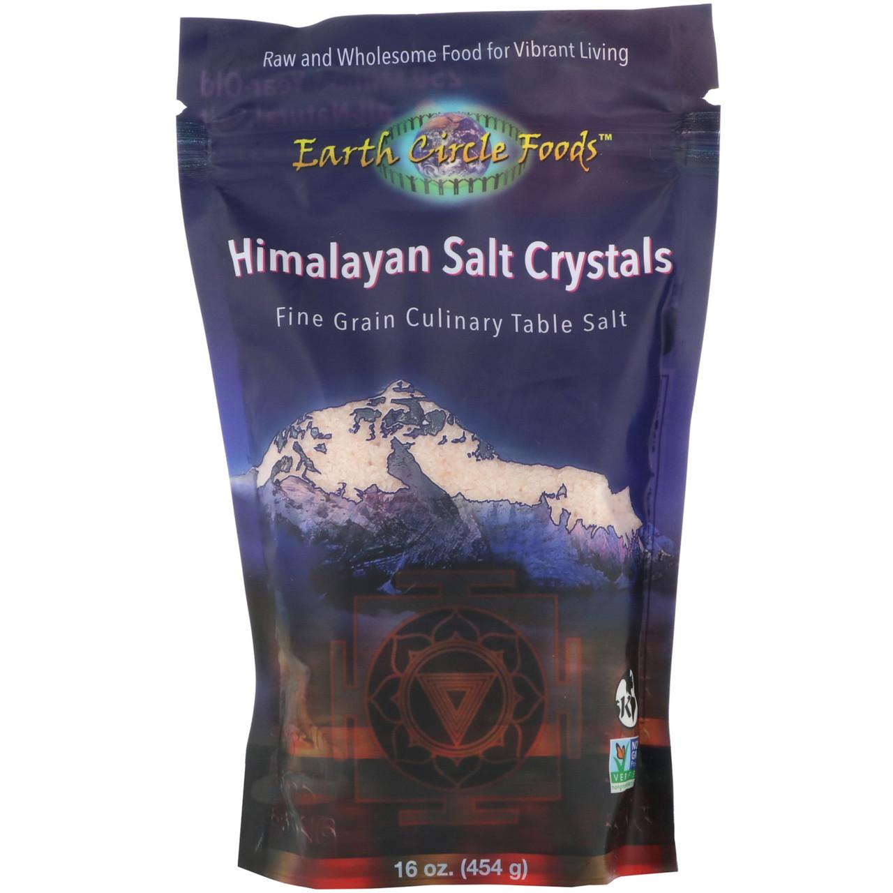 Earth Circle Organics, Himalayan Salt Crystals, Fine Grain, 16 oz (454 g)
