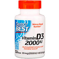 ВитаминD3 2000МЕ Doctor's Best, 180мягких таблеток