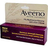 Крем от зуда Aveeno, Active Naturals, 1% гидрокортизон,  28 г