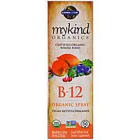 Garden of Life, MyKind Organics, Органический спрей с витамином B-12, со вкусом малины, 2 унции (58 мл), фото 1