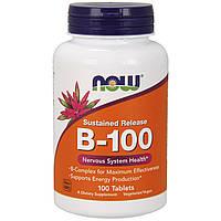 Now Foods, B-100, с замедленным высвобождением, 100 таблеток, фото 1