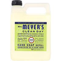 Жидкое мыло для рук сменная упаковка для дозаторов Mrs. Meyers Clean Day, аромат вербены лимонной, 975 мл
