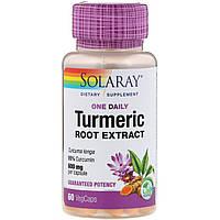 Экстракт корня куркумы Solaray, 600 мг, 60 капсул