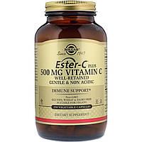 Solgar, Ester-C Plus, витамин C, 500 мг, 250 вегетарианских капсул