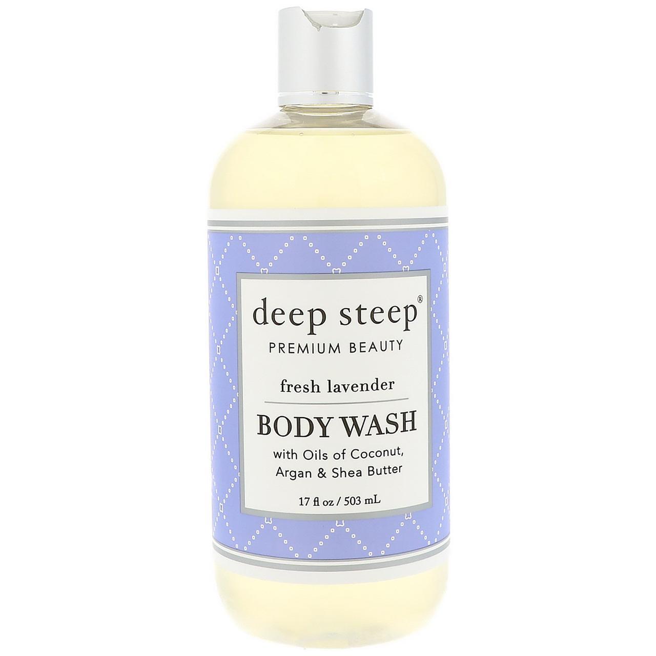 Deep Steep, Body Wash, Fresh Lavender, 17 fl oz (503 ml)