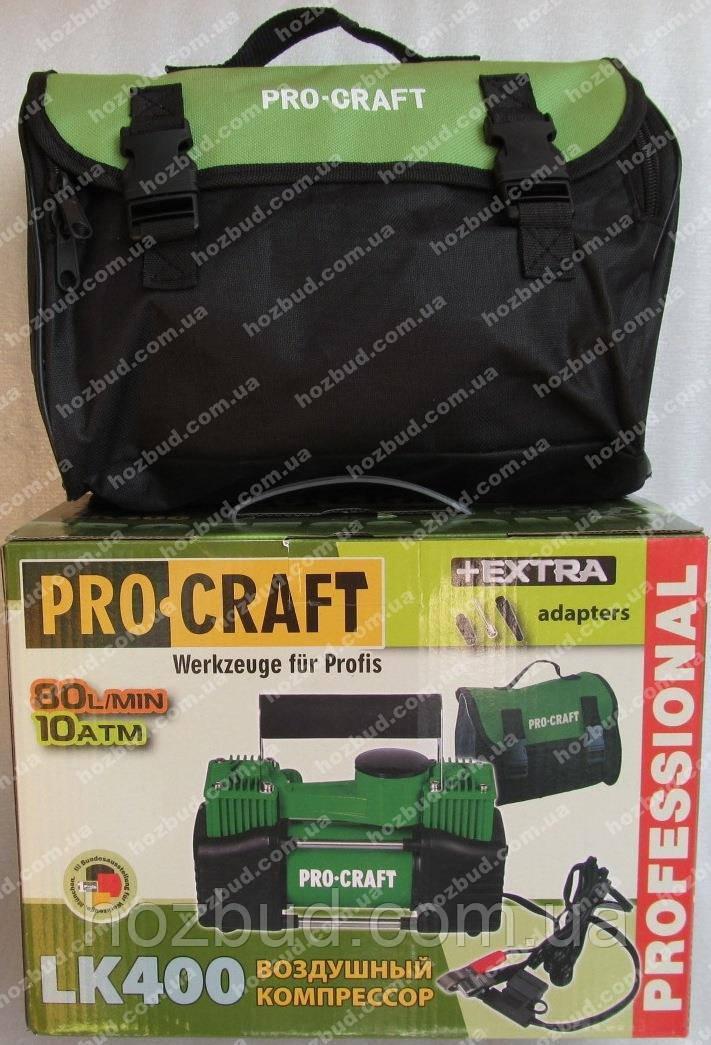 Автомобільний компресор Procraft LK400 (двох поршневий)