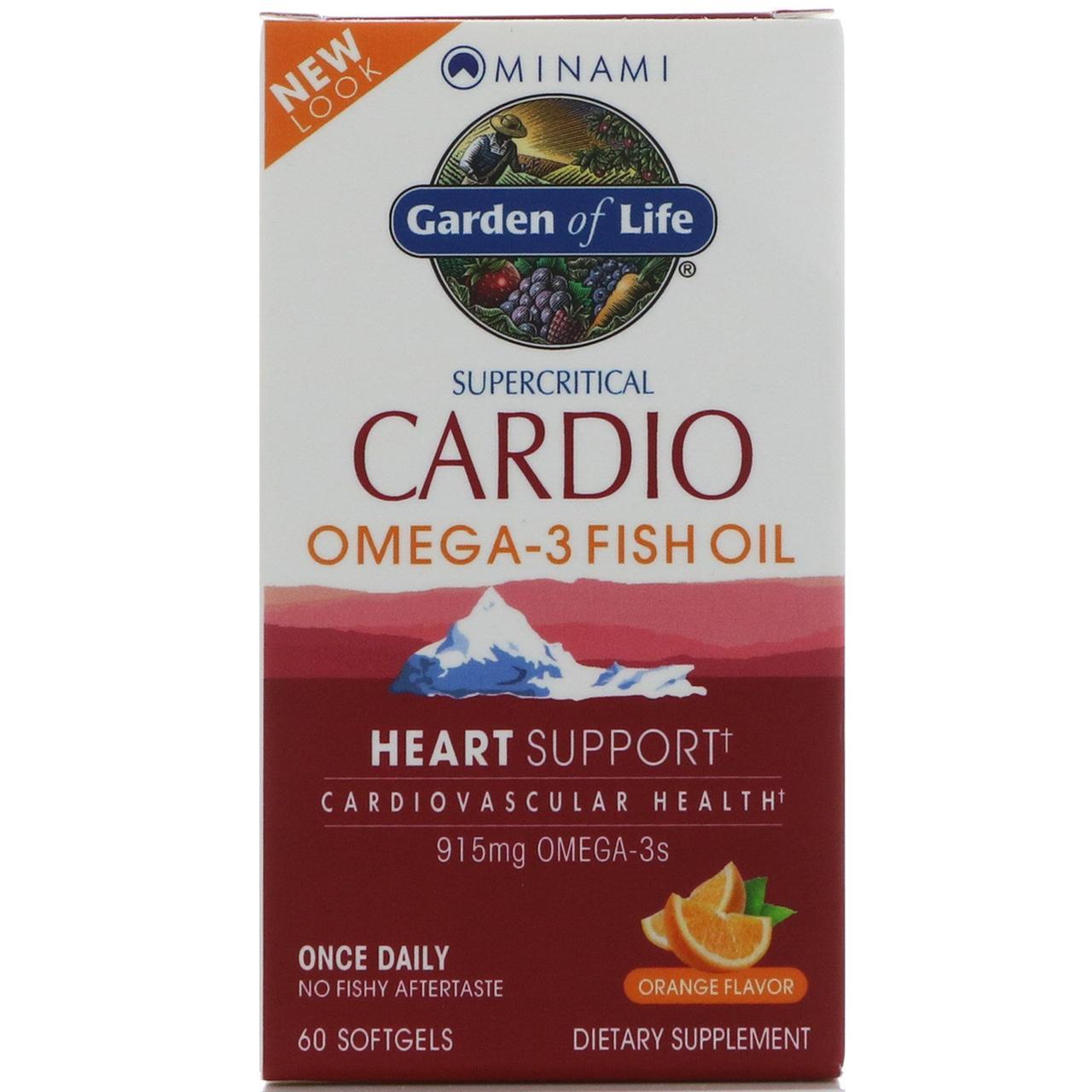 Рыбий жир Кардио Омега-3 Minami Nutrition, , со ароматом апельсина, 60 мягких таблеток