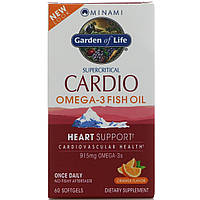 Рыбий жир Кардио Омега-3 Minami Nutrition, , со ароматом апельсина, 60 мягких таблеток, фото 1