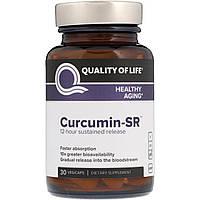 Куркумин-SR Quality of Life Labs, 30 растительных капсул