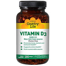 "Витамин D3 Country Life ""Vitamin D3"" 5000 МЕ (200 капсул)"
