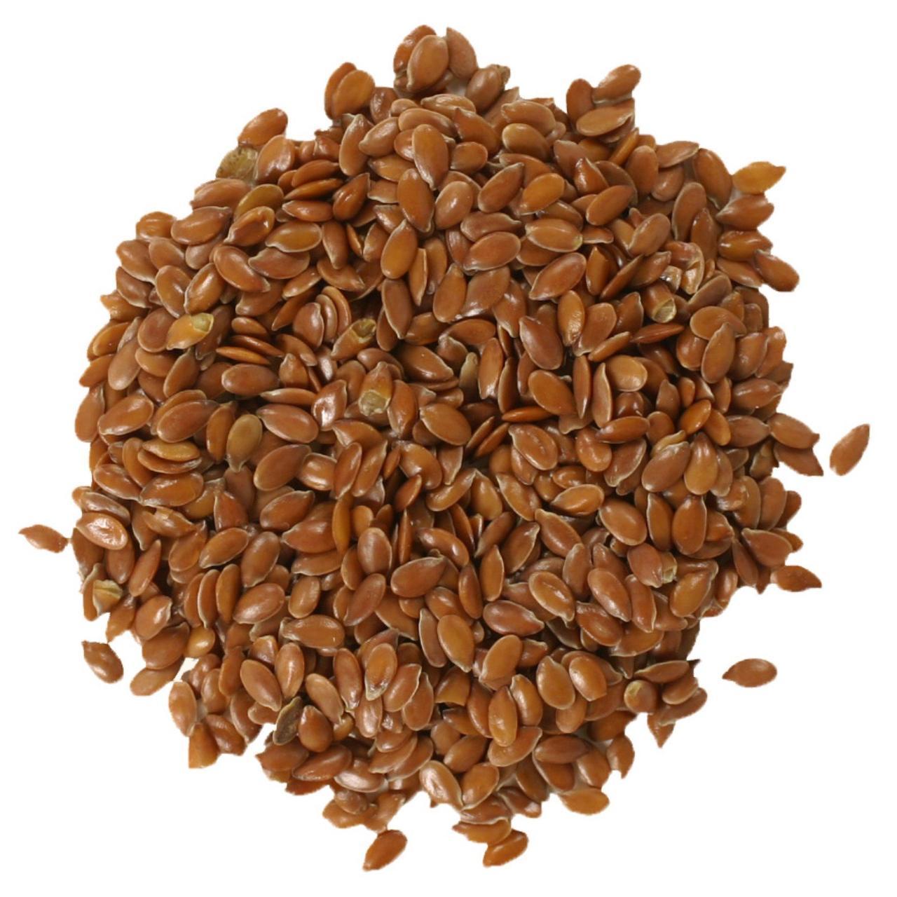 Органические, цельные семена льна Frontier Natural Products, 453 г
